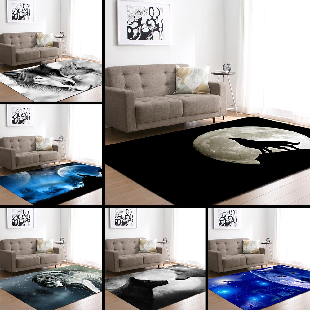 European and American 3D Wild Wolfs Decoration Big Carpets Living Room Area 1