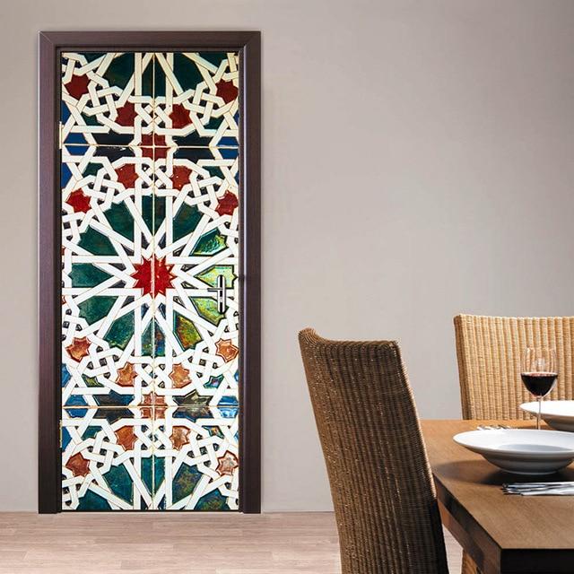 77X200 cm Caleidoscoop glazen deur sticker Badkamer deur renovatie ...