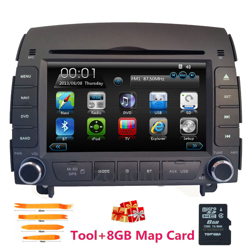 2 Din 7 U0026quot  Car Gps Dvd Player For Hyundai Sonata Nf 2004 2005 2006 2007 2008 3g  Wifi Usb Port