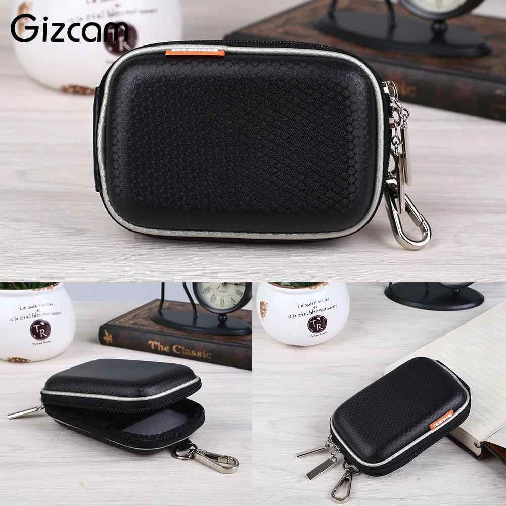 Gizcam Portable Colorful Digital Camera Waist Bag Zipper Case Pouch Protective for Camera Black/Silver Gray/ Rose Red Small Size