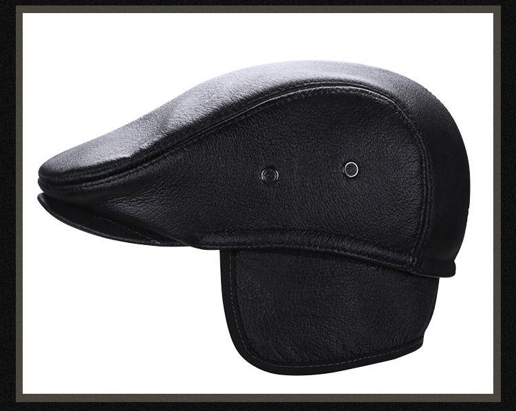 men leather captain hat natural cow (18)