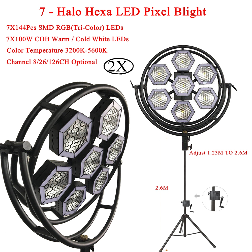 Us 33 2 17 Off New Professional Led Stage Lights 7 Halo Hexa Pixel Light Dmx512 Lighting Effect Master Slave Flat For Dj Disco In