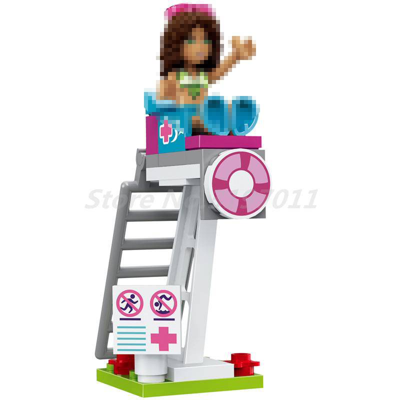 Us 2807 48 Offbela 10611 593pcs City Friend Princess Heartlake Summer Pool Figure Andrea Martina Building Blocks Bricks Toys For Kids Gifts In