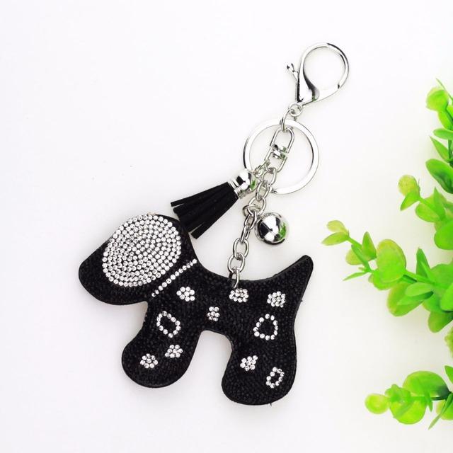 Cute Dog Tassel Keychain