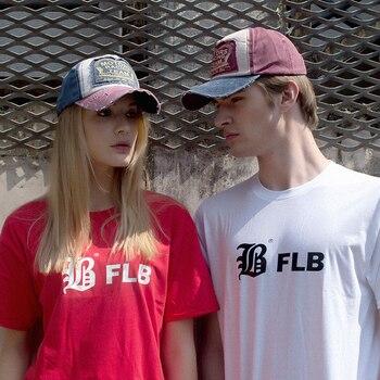 [Flb] الجملة الربيع القطن قبعة بيسبول snapback قبعة الصيف قبعة الهيب هوب جاهزة كاب القبعات للرجال النساء طحن متعدد الألوان 1