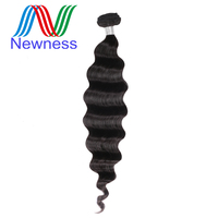 Newness Hair Raw Indian Virgin Hair Natural Color One Piece Loose Deep Wave Bundles 12 30 Inch Human Hair Weaving