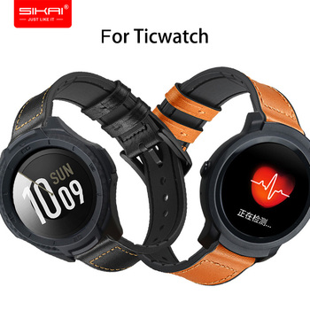 Smart Watch Strap For Ticwatch Pro S2 E2 2/E Band SIKAI Replaced bracelet Accessories 20mm 22mm Black