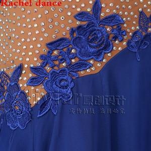 Image 4 - Professional Womens Ballroom Dance Dresses Standard Waltz Flamenco Tango Competition Dress Yellow For Salsa Competition Costume
