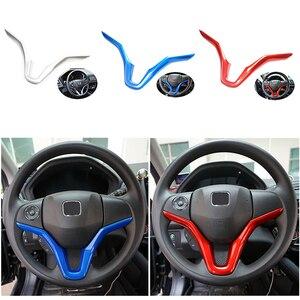Image 2 - ABS Chrome Interior Trim fit für HR V Vezel Auto Center Konsole Innen Trimmen Volle Set Kunststoff Leisten Auto Zubehör Styling