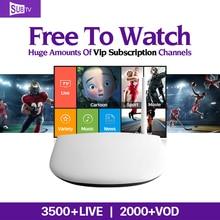 Dalletektv Europa Rusia Android 6.0 Smart TV de la Caja IPTV 3 6 12 Meses Subtv Abonnement IPTV Francés Turco Árabe IPTV Top Box