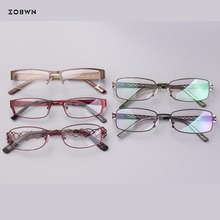 wholesale classic optical frames women man Fashion Brand Designer Metal Square glasses UV400 quadros spectacles computer eyewear