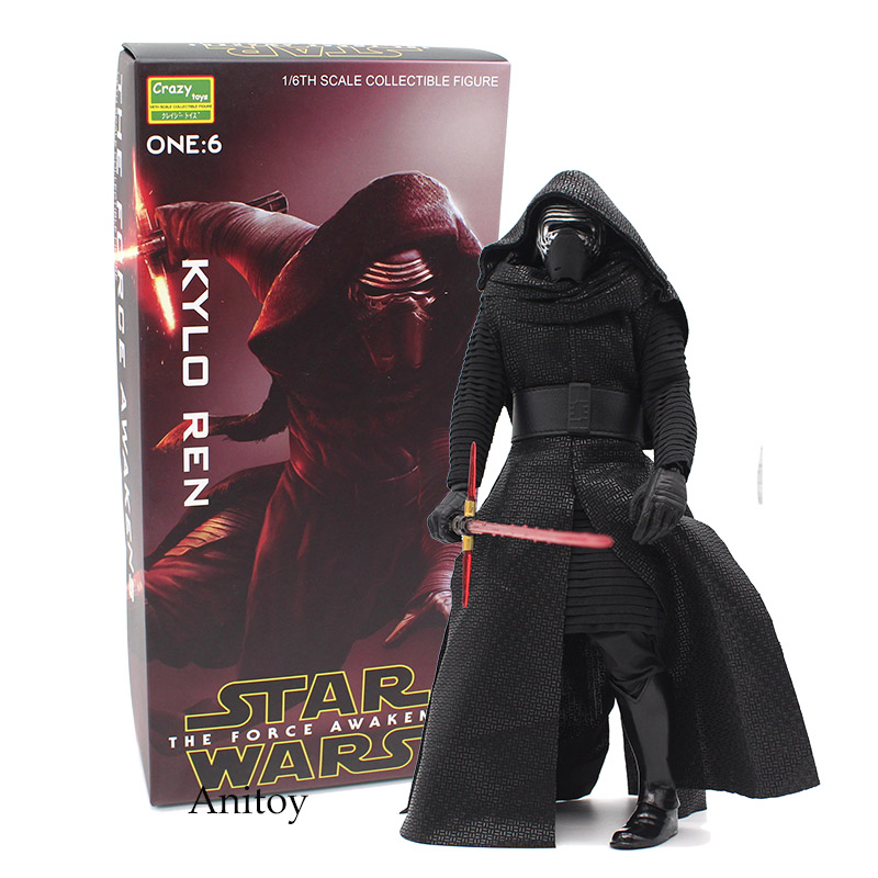 Crazy Toys Star Wars The Force Awakens KYLO REN 1/6th Scale PVC Action Figure Collectible Model Toy 29.5cm KT4236 2016 new 26cm movie the force awakens the black series kylo ren cartoon toy pvc figure model action figures