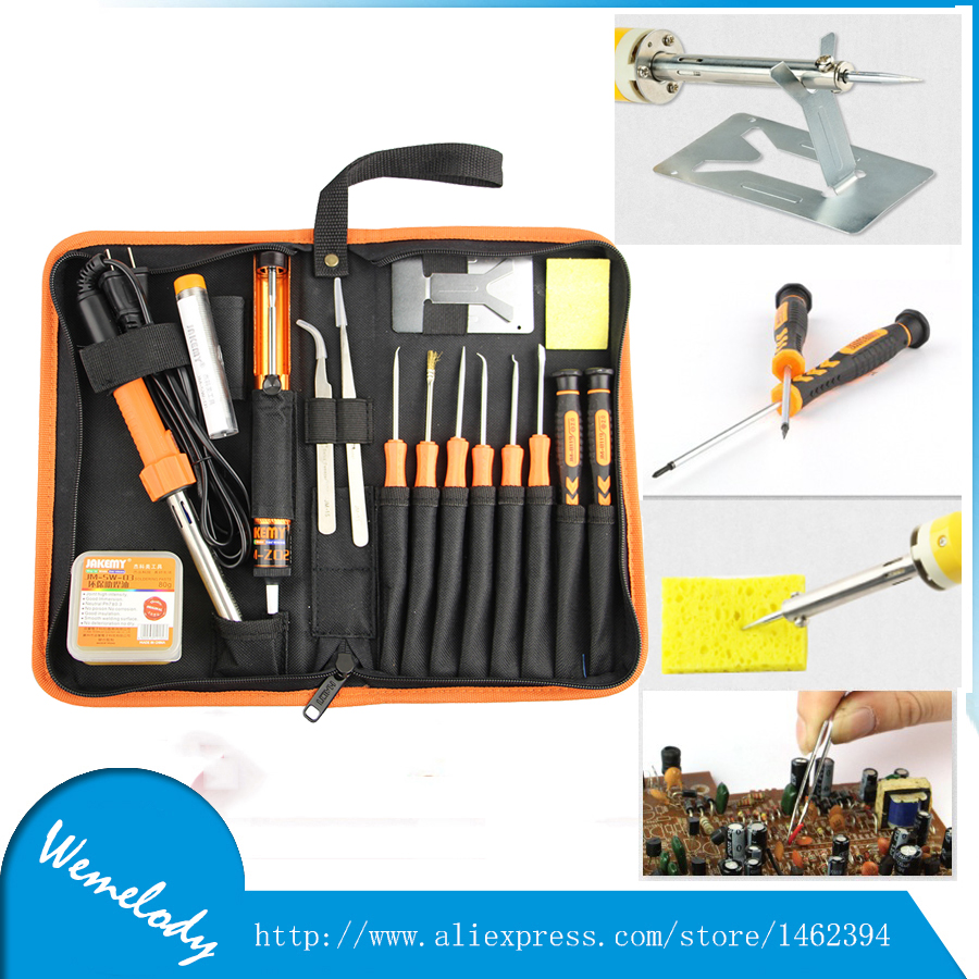 17 in 1 Jakemy JM-P03 multitool DIY Welding Soldering & tweezers & screwdriver set with 30W 220V electric Solder repair tool kit