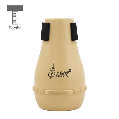 Portátil para Trombone Cor de Madeira Tooyful Silenciador Mudo Instrumentos Musicais Prática Abs Plástico