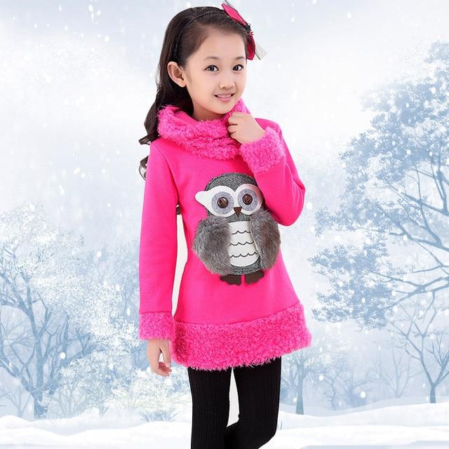 159e10ac240e 2017 Winter Teenage T shirts Sweater Children s Owl Monsoon Girls T ...