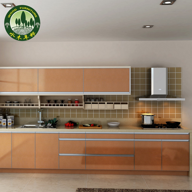 Kitchen cabinet eco friendly 2 1 meters whole xisu paint wood ccebs plate  quartz stone wardrobe-in Kitchen Cabinets from Home Improvement on ...