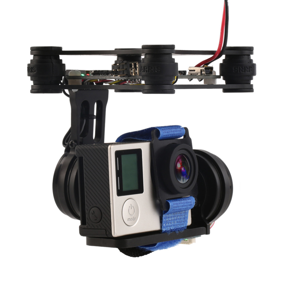 1 компл.. FPV системы 2 оси Бесщеточный Gimbal с контроллером для Phantom GoPro 3 4 Прямая поставка