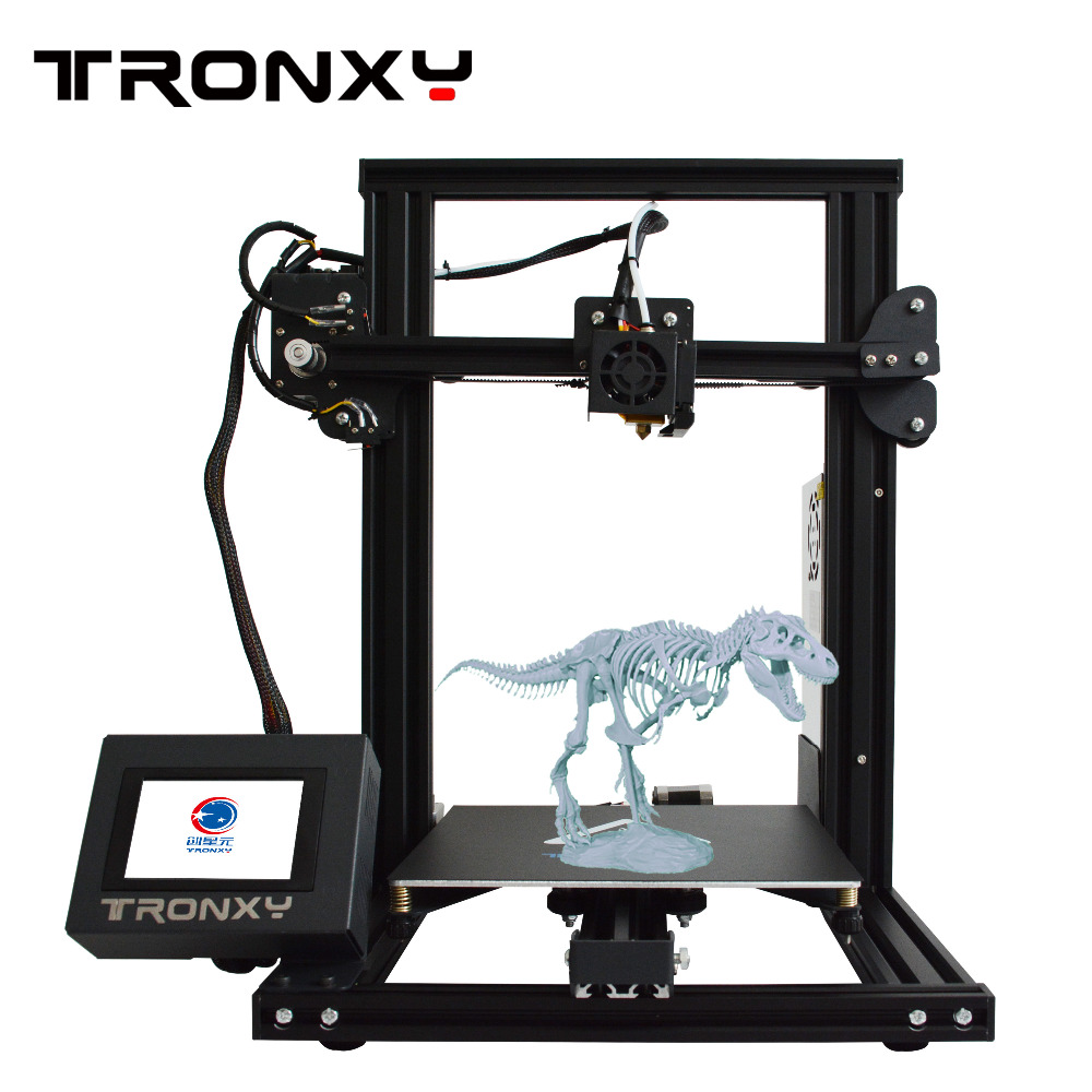 Tronxy 3d Printer 2019 XY-2 Easy to Assemble High Precision For DIY Beginners Metal Frame Structure Printable 3D Model V-slot image