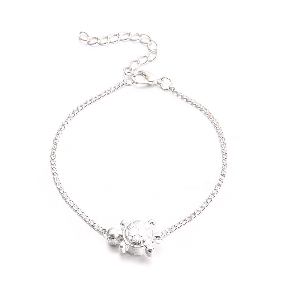 Fashion Turtle Anklets Barefoot Sandals Silver Chain Animal Foot Bracelets