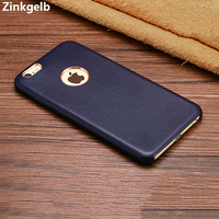 For Apple IPhone 6s Plus Case Cover Luxury Genuine Leather Hard Protective Armor Phone Case For