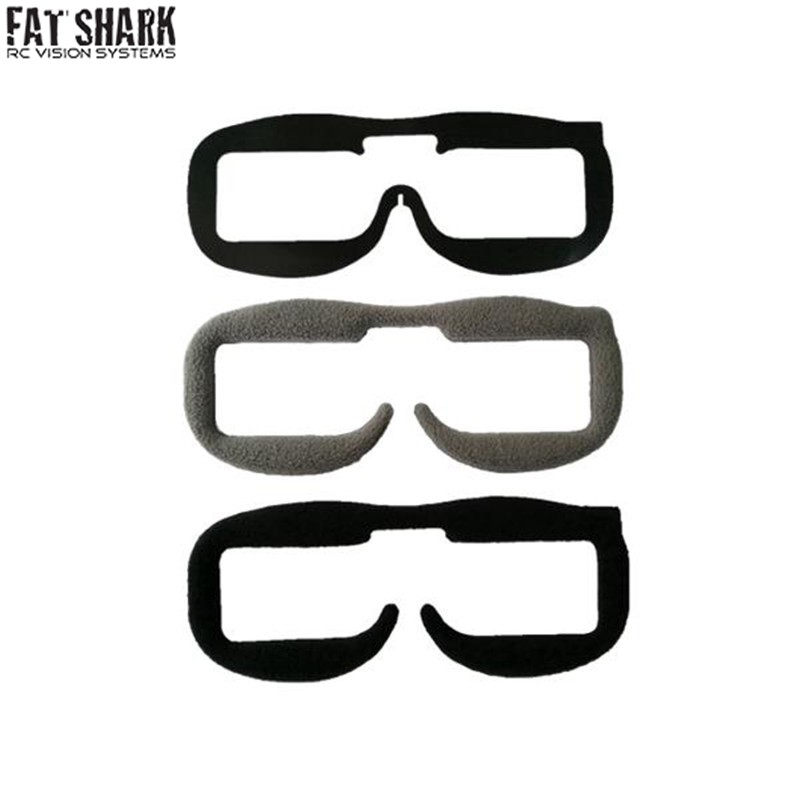 Original Upgraded 2PCS Fatshark Replacement Faceplate Soft Foam Pads for FPV Goggles