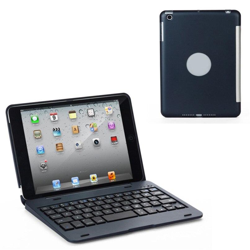 Портативный Slim <font><b>Bluetooth</b></font> 3.0 Smart <font><b>Keyboard</b></font> чехол для Apple iPad мини h3t5