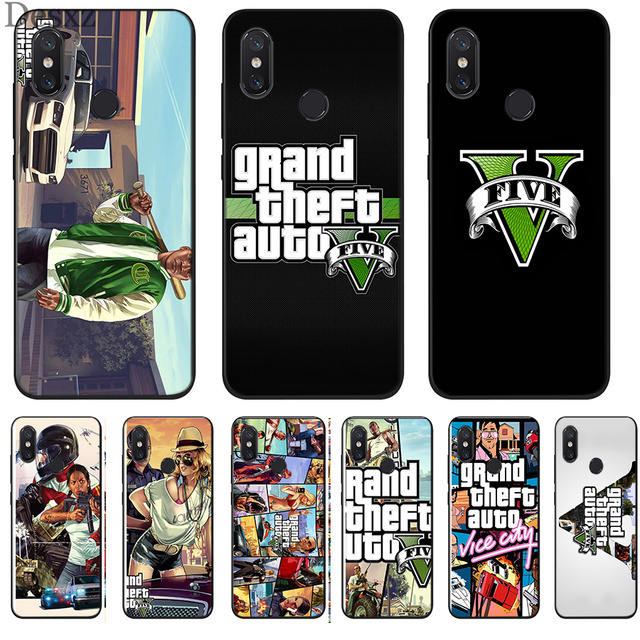 US $0 95 31% OFF|Rockstar Gta 5 Grand Theft Phone Case Cover For Xiaomi Mi  6 8 Lite A1 A2 5X 6X F1 Cases-in Half-wrapped Case from Cellphones &