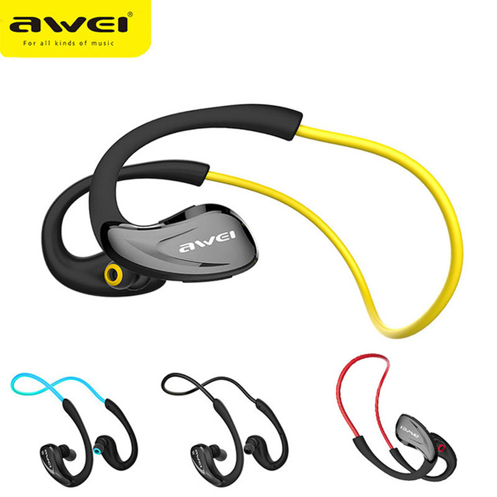 Awei Sport Earpiece Blutooth Cordless Auriculares Wireless Headphone Headset Bluetooth In-ear Earphone For Your Ear Phone Earbud original awei es q3 headset noise isolation bests sound in ear style hifi earphones for phone mp3 mp4 players 3 5mm jack
