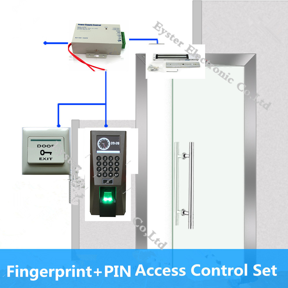 F18 Biometric Access Control FP Fingerprint Pword Open ... on