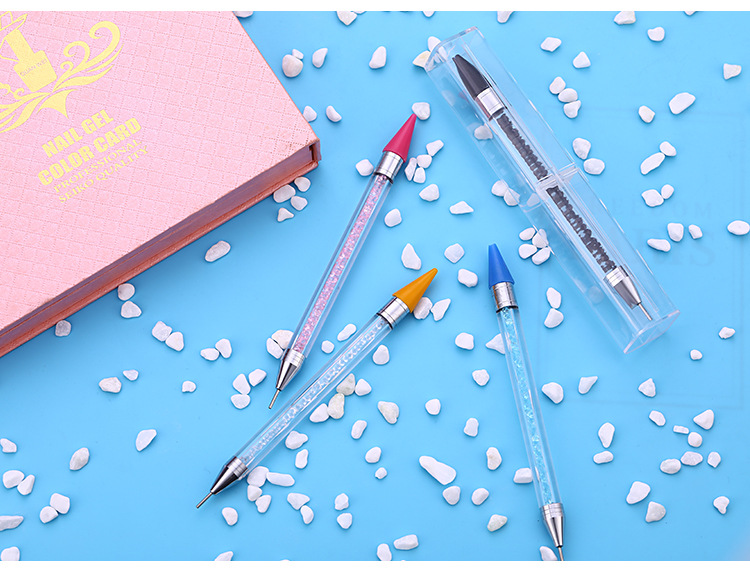 Image 5 - 2019 New Nail Point Drill Tool Acrylic Double Head Drill Crayon Multi Function Wax Head Point Drill Nail Pen-in Dotting Tools from Beauty & Health