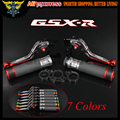 Laser Logo(GSX-R) 7 Colors New CNC Motorcycle Brake Clutch Levers and  Handlebar Hand Grips For Suzuki GSXR1000 2005 2006