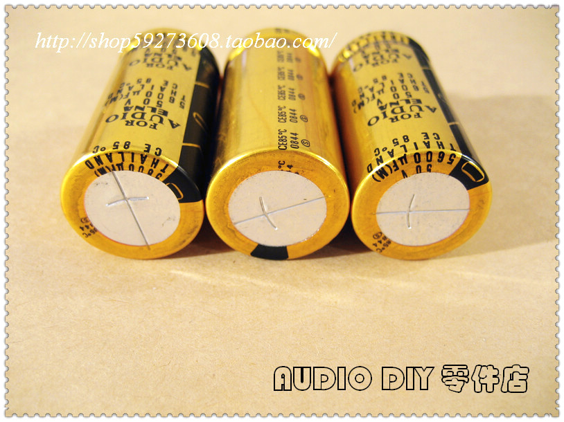 2PCS ELNA FOR AUDIO (LAO) 5600uF/50V Electrolytic Capacitors for Audio (Origl Box in Thailand) free shipping