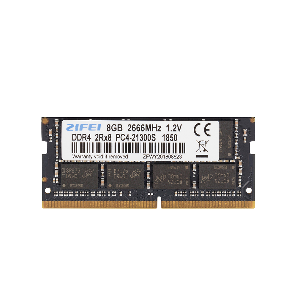ZiFei ram DDR4 8 GB 2133HMz 2400HMz 2666 MHz 260Pin SO-DIMM module mémoire pour ordinateur portable en gros