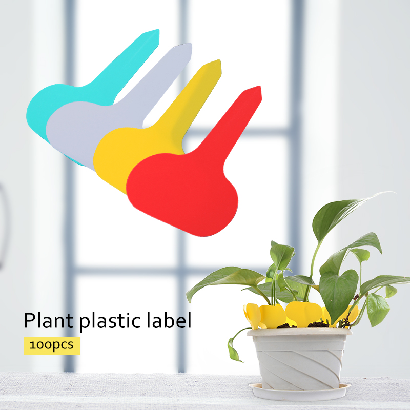 100pcs// Plant Tag T-type Plastic Nursery Garden Plant Label Flower Decoration
