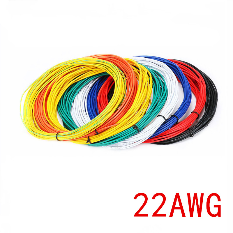 10 Meters UL 1007 Wire 22AWG 1.6mm PVC Wire Electronic Cable UL Certification Insulated LED Cable For DIY Connect 8 Color