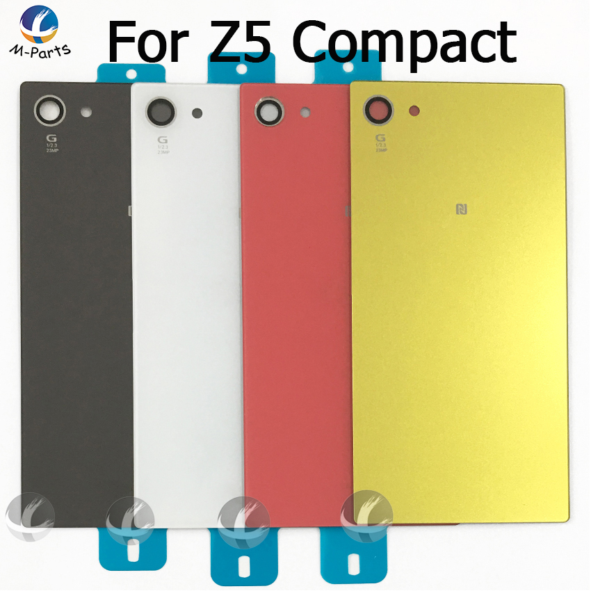 Back Rear Glass Cover Housing For Sony For Xperia Z5 Compact Z5compact Mini E5823 E5803 Battery Door Lid Shell Case  +Adhesive
