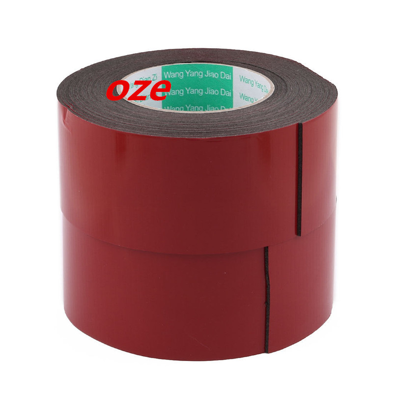 2Pcs 60x2mm Double Sided Sponge Tape Adhesive Sticker Foam Glue Strip Sealing 5M 2pcs 2 5x 1cm single sided self adhesive shockproof sponge foam tape 2m length