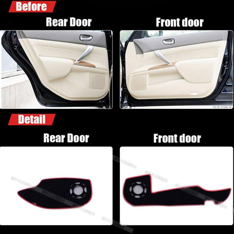 Ipoboo 4pcs Fabric Door Protection Mats Anti-kick Decorative Pads For Nissan Teana 2008-2012 ipoboo 4pcs fabric door protection mats anti kick decorative pads for hyundai elantra 2012 2015