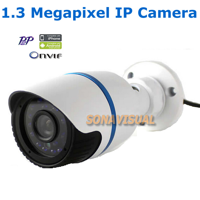 ФОТО H.264 1.3 MP Security Camera Onvif IR-Cut 960P CMOS 24Pcs Leds IR Waterproof IP Camera Outdoor Day&Night Vision Motion Detection