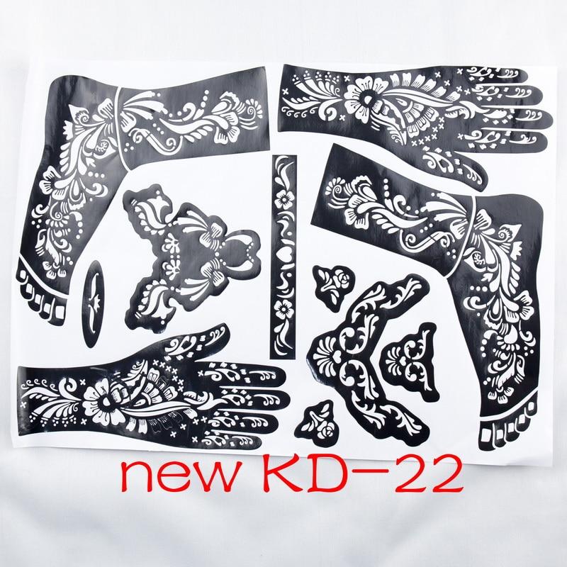 Professional Henna Tattoo: 1pc New KD22 Tattoo Template Hands/feet Henna Tattoo