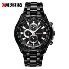 2016 new fashion Curren brand casual business men clock casual steel luxury male wrist sport quartz