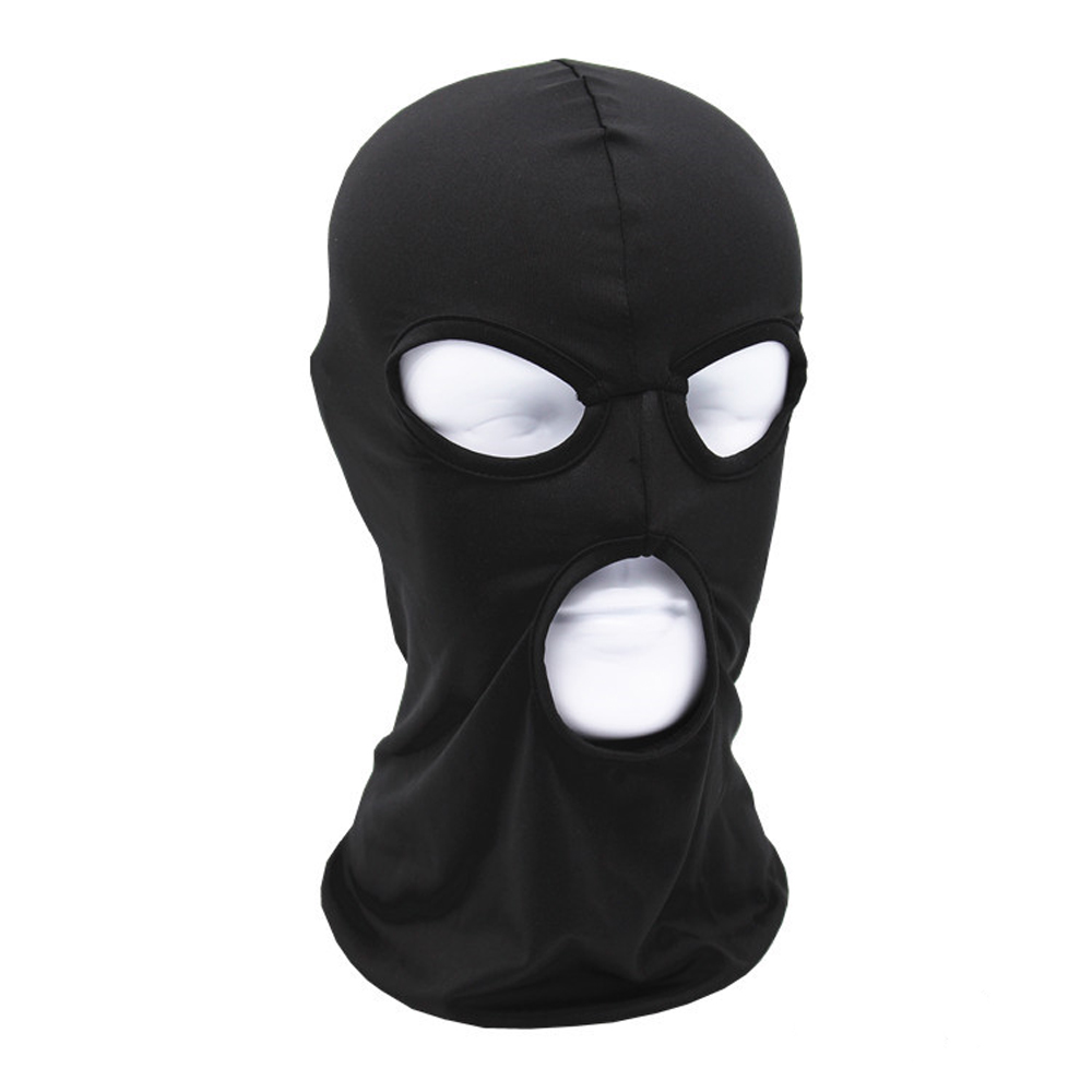 2017 3 Hole New Windproof  Full Face Mask Quick-Drying Combat Breathable Anti UV Motorcycle Wargame Tactical Balaclava hat uv cs airsoft mask earmuffs professional wind 3 color paintball mask shock full face protect mask free shipping