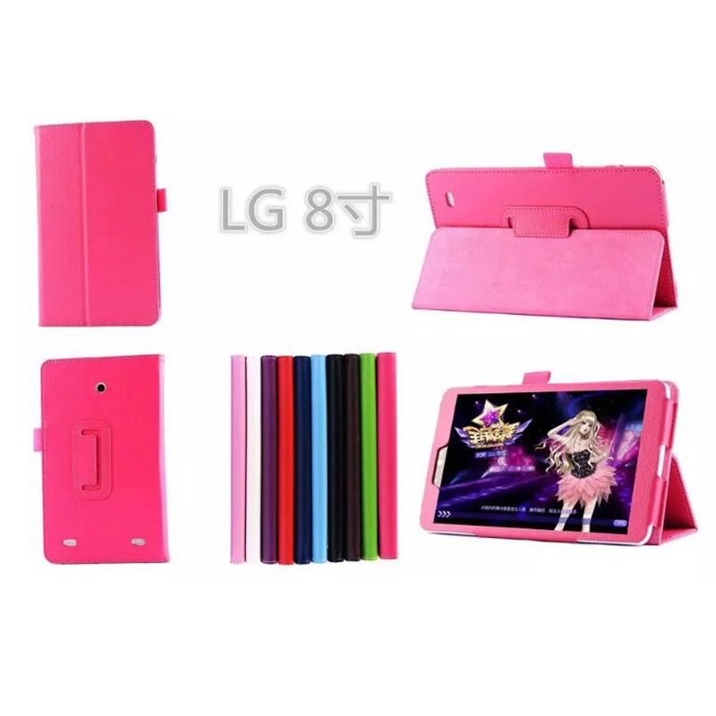 ocube Luxury Folio Stand Protective Cover Litchi Grain PU Leather Case Cover For LG G Pad