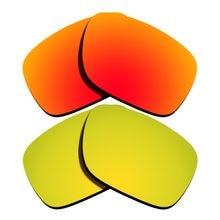 d08480941013b Naranja rojo espejo y 24 K oro espejo polarizado lentes de reemplazo para  Holbrook marco 100% UVA y UVB