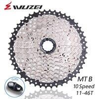 Wuzei 10 velocidade roda livre mtb mountain bike peças cassete roda livre 11-46 t para peças m8000 m700 m670 m615 m6000 x5 x9