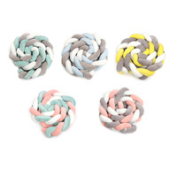 300CM soft Knit Knot Ball Long Strip Baby Bedding Stuffs Kids Room Decoration Baby Bed Bumper