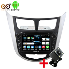 New 2GB RAM Android 7.1 Tablet PC Car DVD Player For Hyundai Accent Solaris Verna 2011-2014 GPS Navi Audio Radio Video