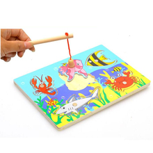 Brain Game Fishing Puzzles for children Wood Fishing Toys with fishing rod Outdoor Fun & Sports Learning & Education PY189