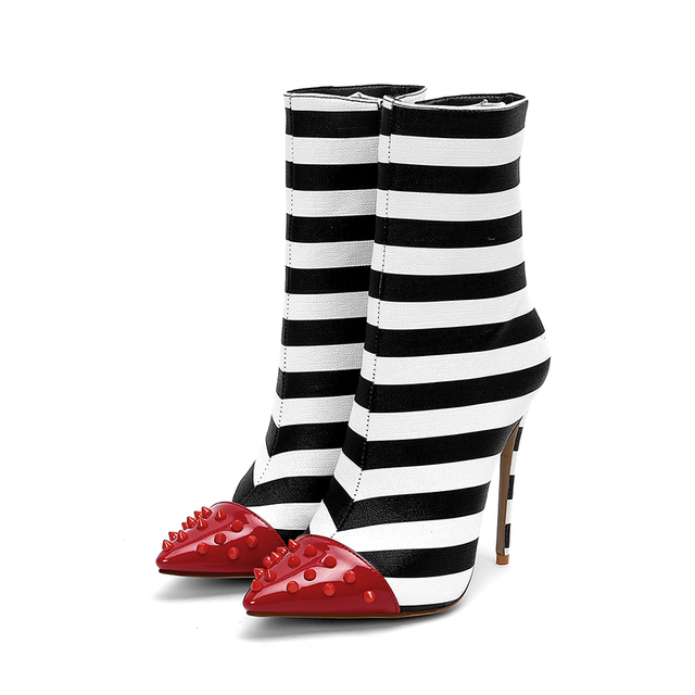 Striped Boots for Women - 12 Sizes 4