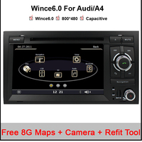 Capacitive Original UI2 Din 7 Inch Car DVD Player For Audi A4 2002 2008 Canbus Radio